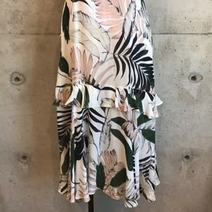 Milly Dresses - MILLY Tropical Print Silk Dress NWT
